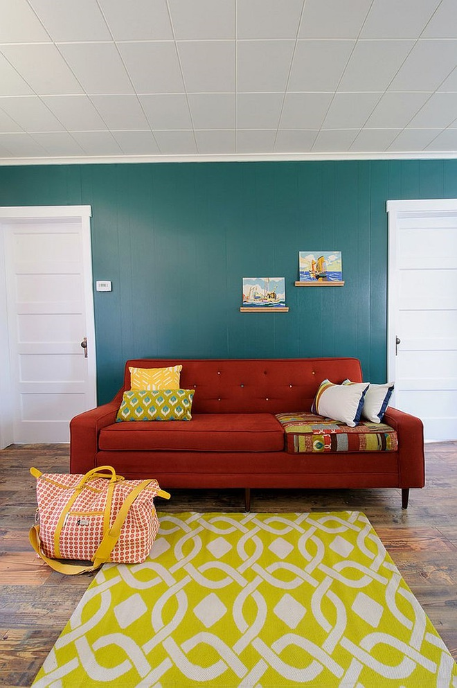 Xu hướng sử dụng ghế sofa màu đậm đang dần lên ngôi trong công cuộc tạo điểm nhấn cho phòng khách - Ảnh 6.