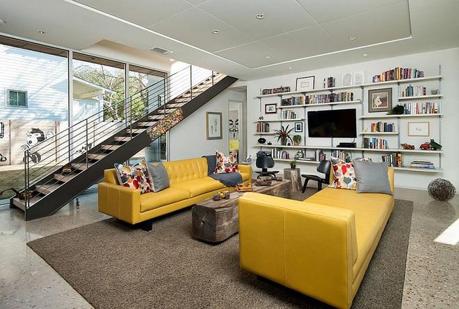 Xu hướng sử dụng ghế sofa màu đậm đang dần lên ngôi trong công cuộc tạo điểm nhấn cho phòng khách - Ảnh 9.