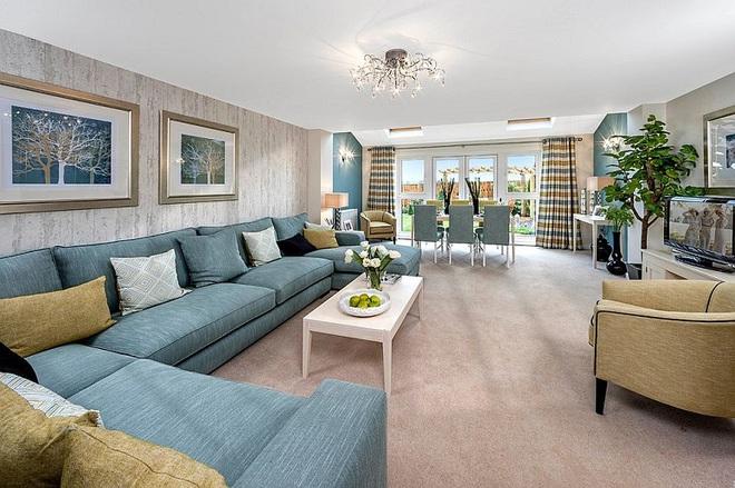 Xu hướng sử dụng ghế sofa màu đậm đang dần lên ngôi trong công cuộc tạo điểm nhấn cho phòng khách - Ảnh 12.