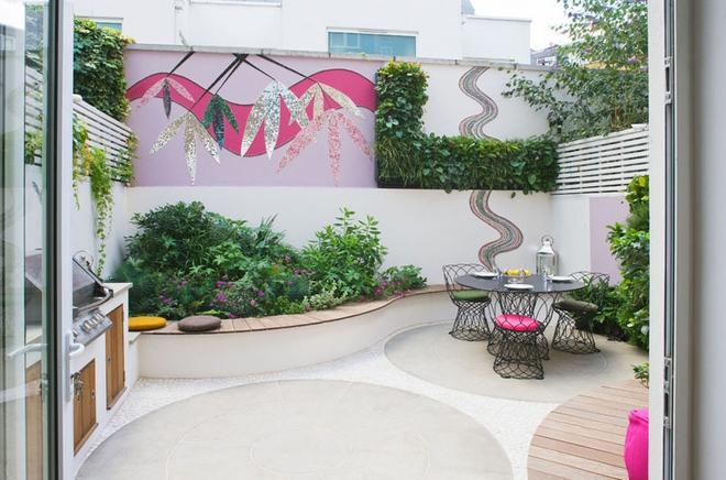 Thiết kế mảnh sân sau thành góc thư giãn đẹp mê mẩn với điểm nhấn lãng mạn từ màu hồng - Ảnh 5.
