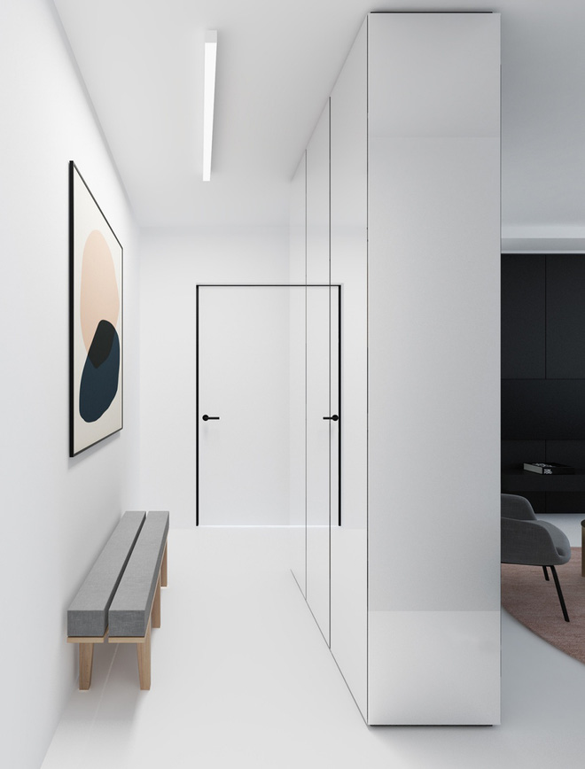 Hai căn hộ nhỏ với sắc trắng làm chủ đạo đẹp mười phân vẹn mười - Ảnh 1.