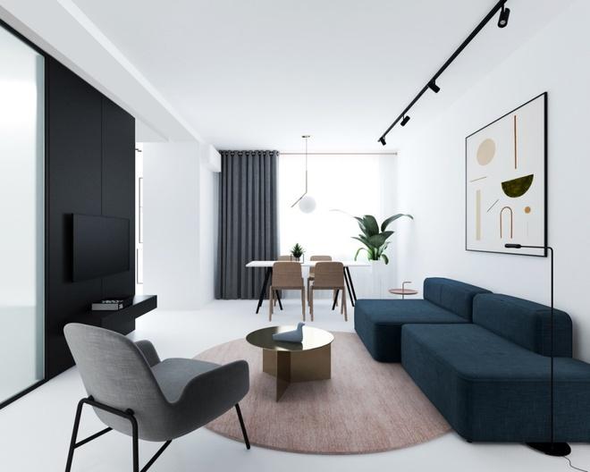 Hai căn hộ nhỏ với sắc trắng làm chủ đạo đẹp mười phân vẹn mười - Ảnh 3.