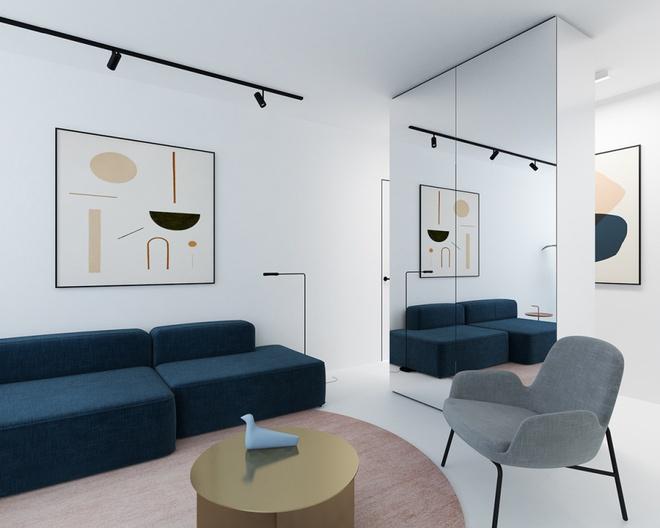 Hai căn hộ nhỏ với sắc trắng làm chủ đạo đẹp mười phân vẹn mười - Ảnh 4.