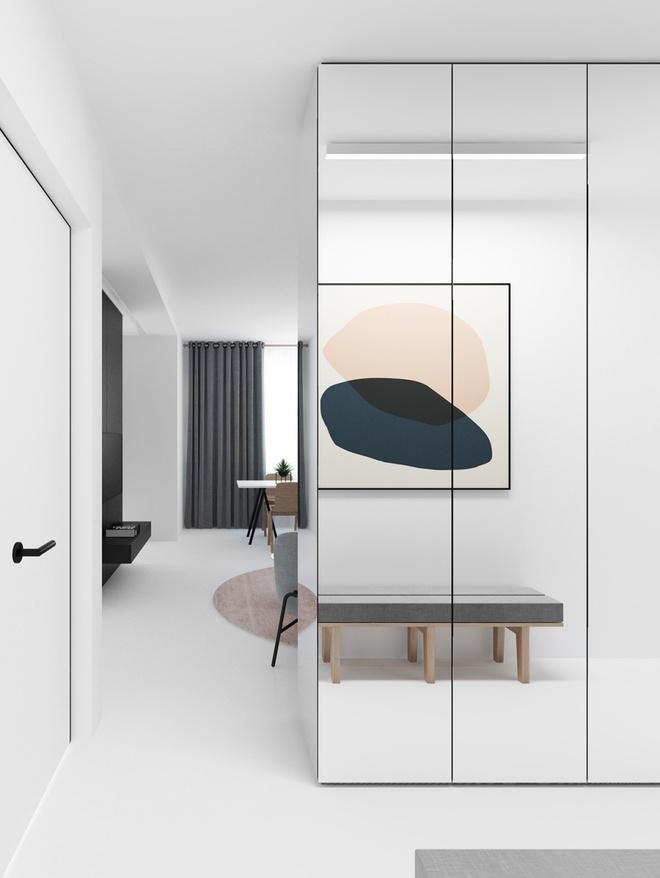 Hai căn hộ nhỏ với sắc trắng làm chủ đạo đẹp mười phân vẹn mười - Ảnh 8.