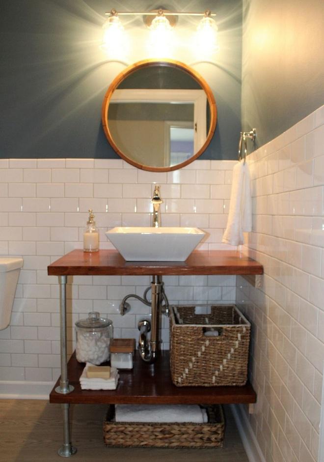 Những mẫu bồn rửa tay có thiết kế đẹp và hợp lý cho nhà tắm nhỏ - Ảnh 1.