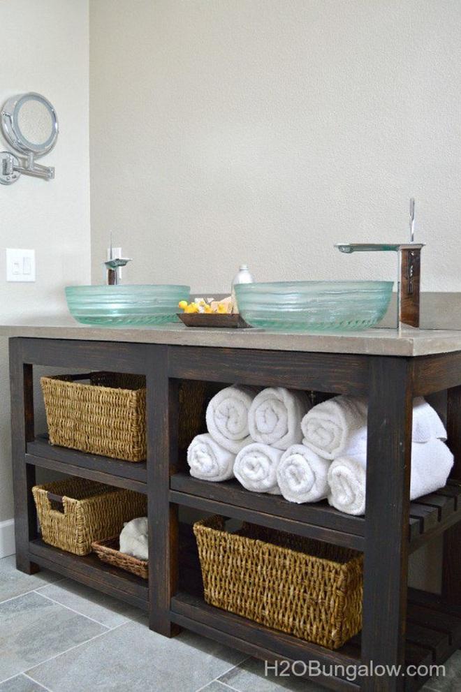 Những mẫu bồn rửa tay có thiết kế đẹp và hợp lý cho nhà tắm nhỏ - Ảnh 2.