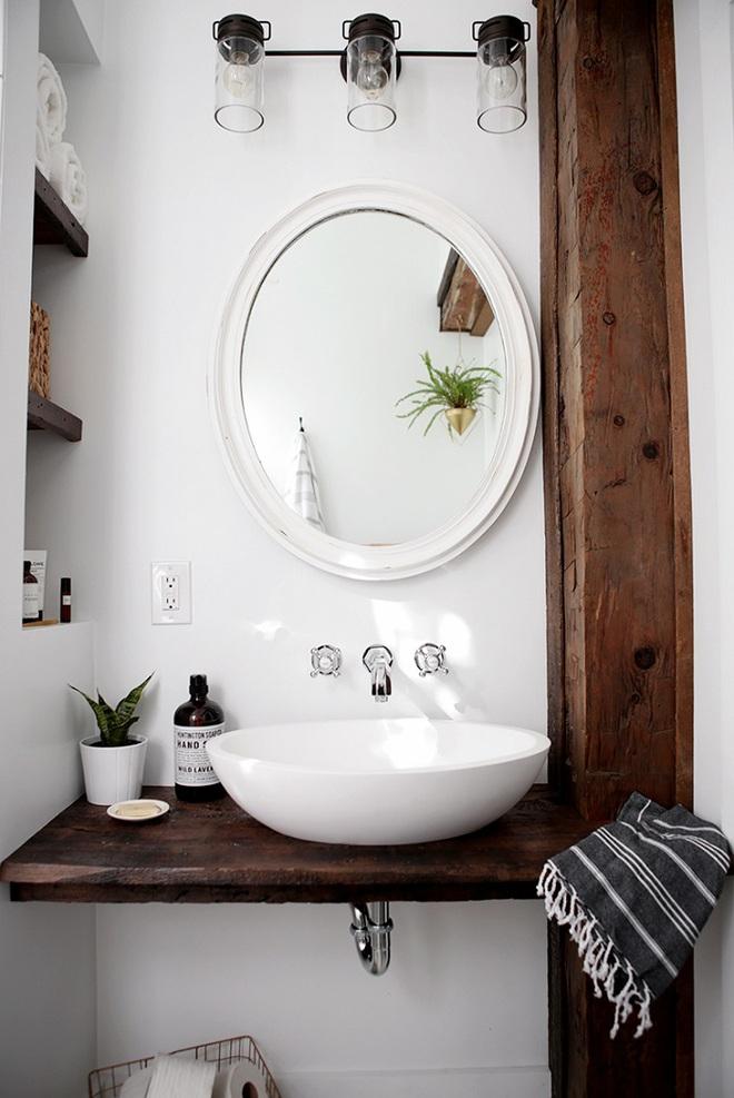 Những mẫu bồn rửa tay có thiết kế đẹp và hợp lý cho nhà tắm nhỏ - Ảnh 3.
