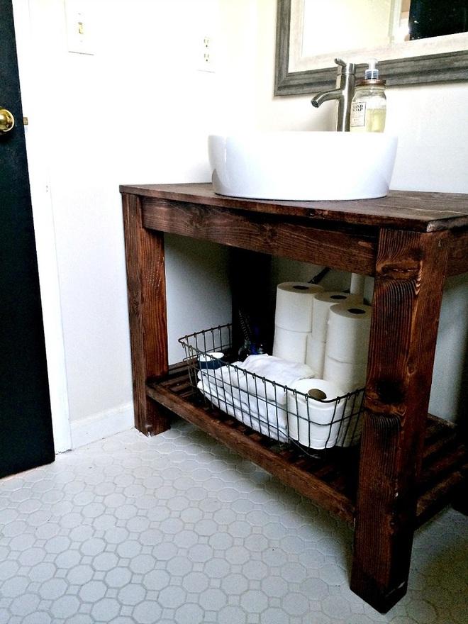 Những mẫu bồn rửa tay có thiết kế đẹp và hợp lý cho nhà tắm nhỏ - Ảnh 6.