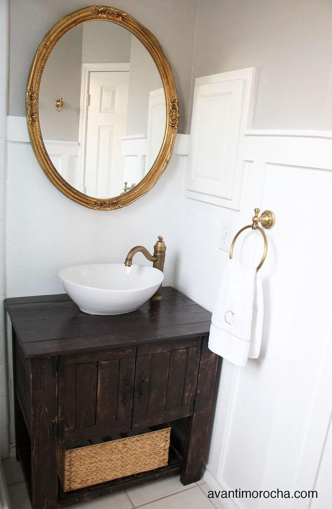 Những mẫu bồn rửa tay có thiết kế đẹp và hợp lý cho nhà tắm nhỏ - Ảnh 7.