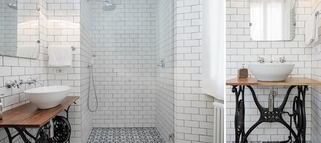Những mẫu bồn rửa tay có thiết kế đẹp và hợp lý cho nhà tắm nhỏ - Ảnh 9.