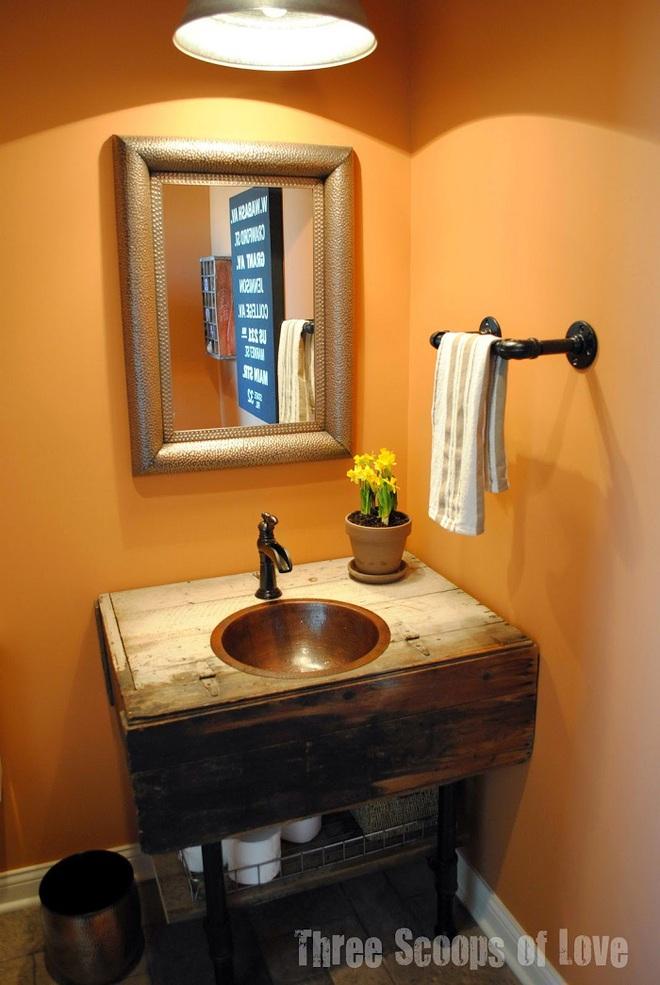Những mẫu bồn rửa tay có thiết kế đẹp và hợp lý cho nhà tắm nhỏ - Ảnh 11.