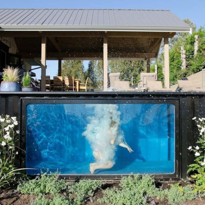 Bể bơi container nhỏ gọn, đẹp tuyệt dành cho nhà có sân vườn nhỏ - Ảnh 3.