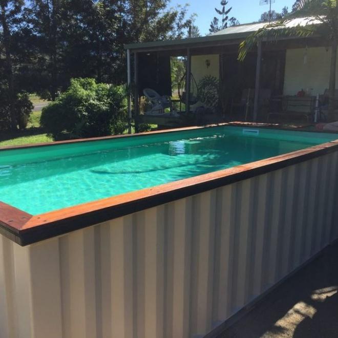 Bể bơi container nhỏ gọn, đẹp tuyệt dành cho nhà có sân vườn nhỏ - Ảnh 4.