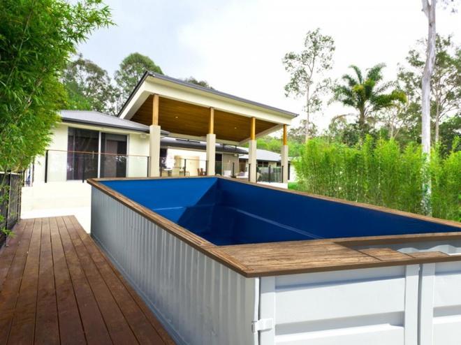 Bể bơi container nhỏ gọn, đẹp tuyệt dành cho nhà có sân vườn nhỏ - Ảnh 6.