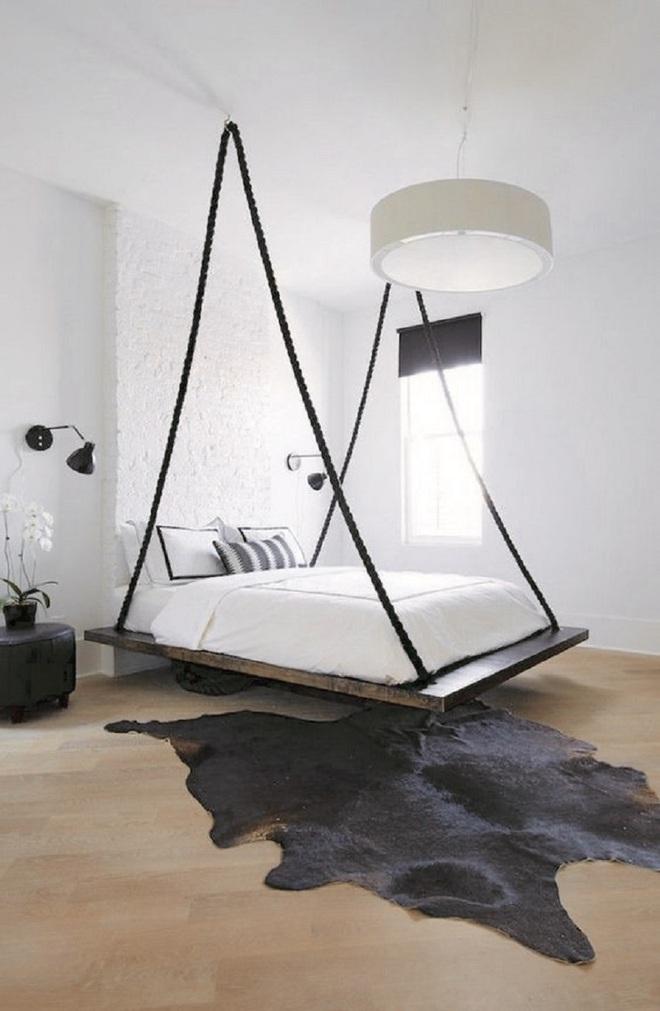 Mê mẩn 8 mẫu giường ngủ treo lơ lửng rất độc đáo và ấn tượng - Ảnh 3.