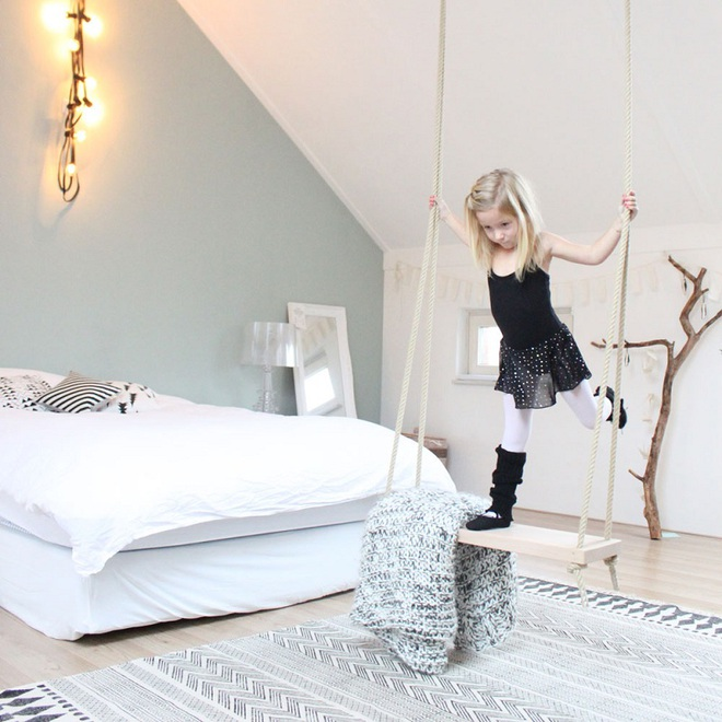 Swing: Ý tưởng thiết kế mà trẻ con hay người lớn đều ao ước được có trong nhà - Ảnh 1.