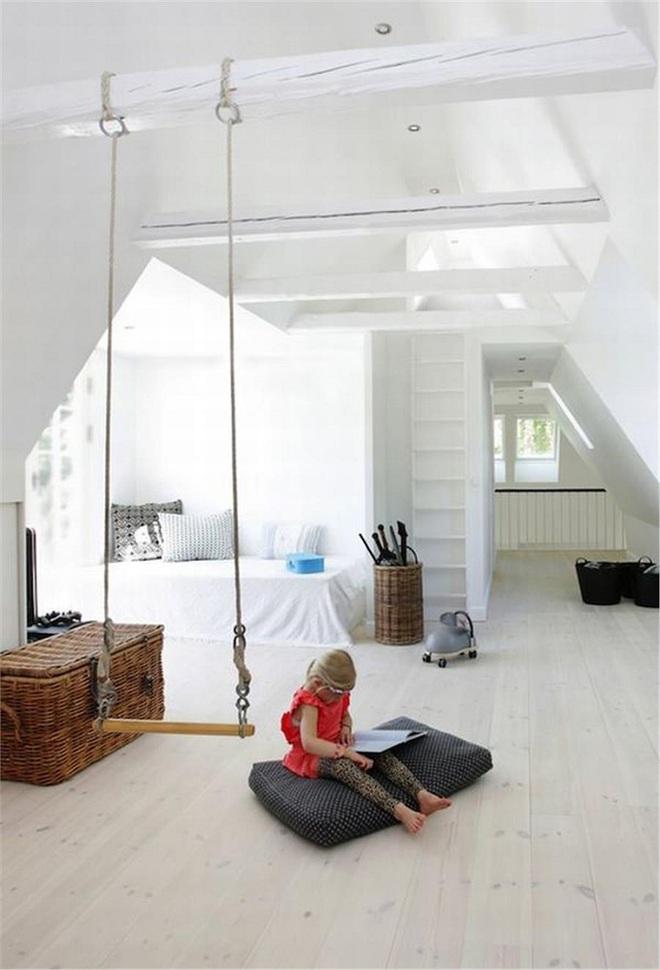 Swing: Ý tưởng thiết kế mà trẻ con hay người lớn đều ao ước được có trong nhà - Ảnh 4.