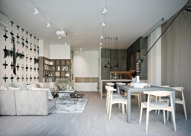 Những mẫu phòng khách liền nhà ăn giúp bạn chẳng cần lo về diện tích - Ảnh 4.