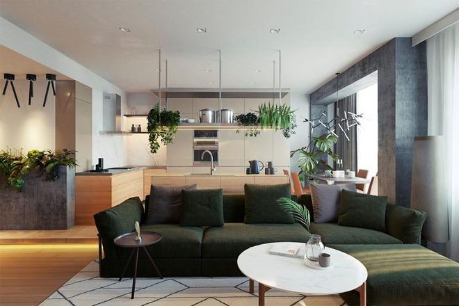 Những mẫu phòng khách liền nhà ăn giúp bạn chẳng cần lo về diện tích - Ảnh 5.