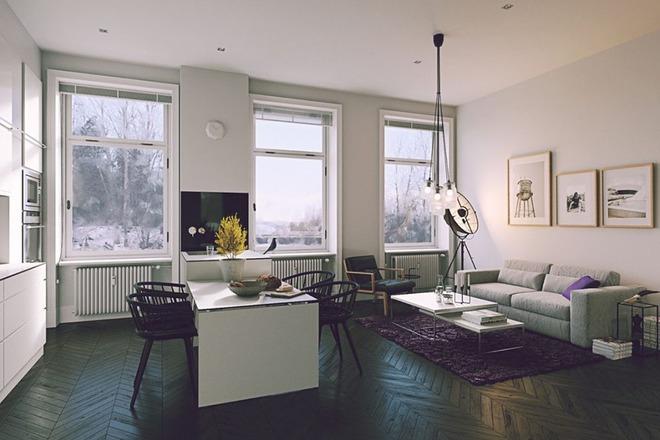 Những mẫu phòng khách liền nhà ăn giúp bạn chẳng cần lo về diện tích - Ảnh 9.
