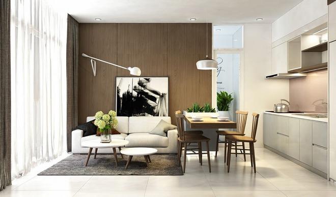 Những mẫu phòng khách liền nhà ăn giúp bạn chẳng cần lo về diện tích - Ảnh 15.