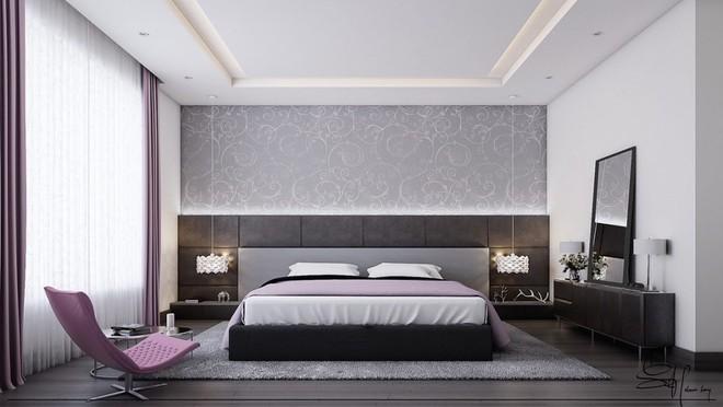 Ngắm những phòng ngủ màu xám nhưng không hề u ám và nhàm chán - Ảnh 4.