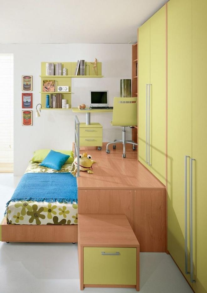 Tận dụng tối đa diện tích để tạo thêm nhiều chức năng cho phòng của bé nhờ thiết kế giật cấp - Ảnh 1.