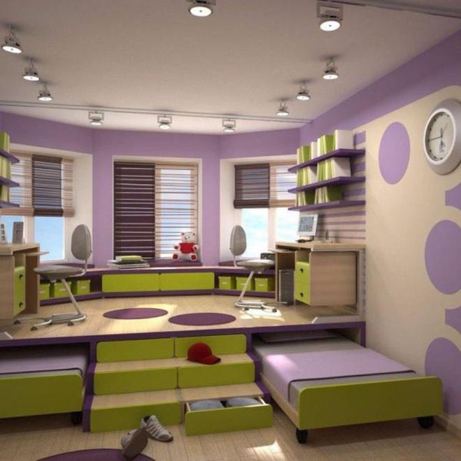 Tận dụng tối đa diện tích để tạo thêm nhiều chức năng cho phòng của bé nhờ thiết kế giật cấp - Ảnh 2.