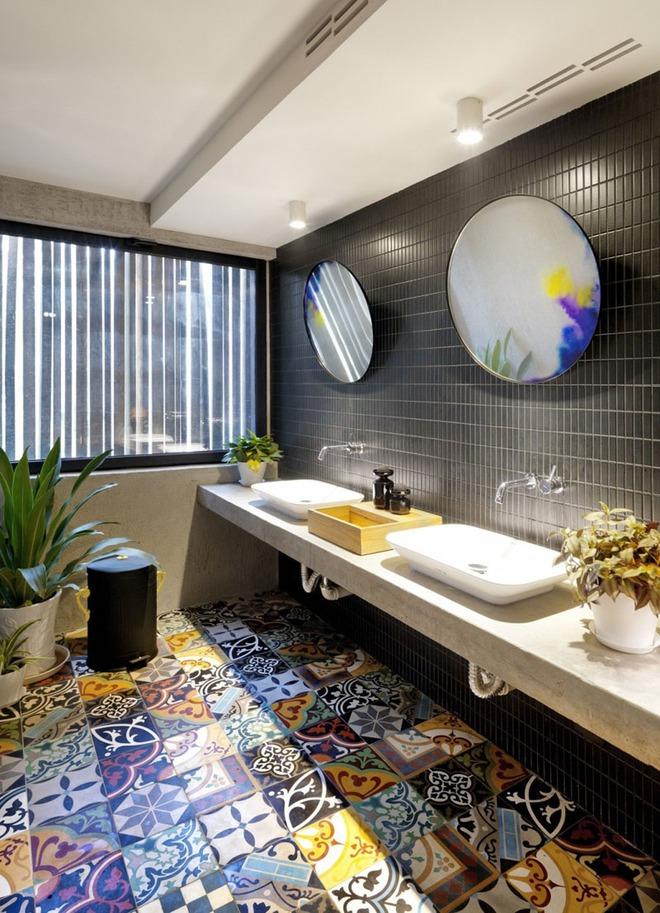 Muốn nhà tắm đẹp chỉ cần sắm một chiếc bồn rửa thế này là đủ - Ảnh 1.