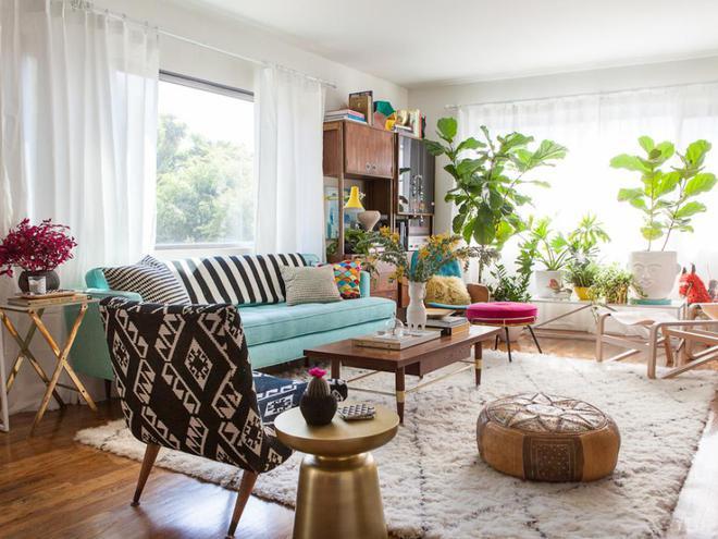 Quá đáng tiếc nếu bạn không học 20 cách kết hợp màu sắc này khi trang trí phòng khách - Ảnh 1.