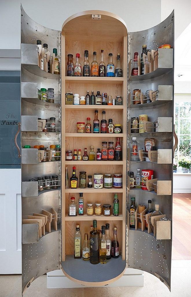 10 thiết kế tủ lưu trữ giúp bạn chứa cả thế giới chai lọ lỉnh kỉnh trong phòng bếp - Ảnh 7.