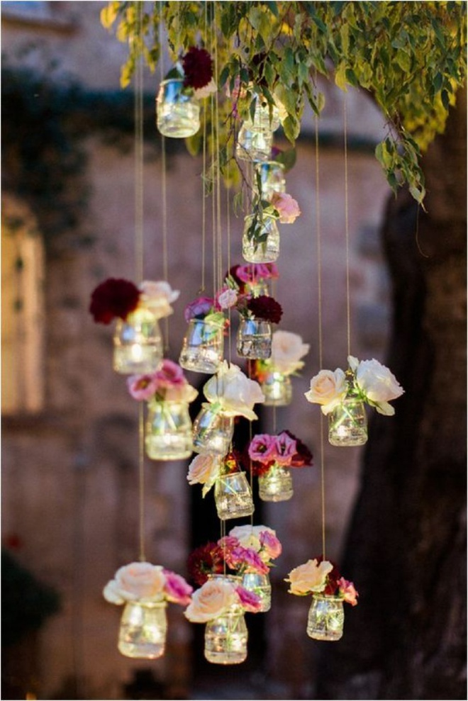 Tự làm đèn chùm hoa cho bữa tối mùa hè thêm ngọt ngào và lãng mạn - Ảnh 8.