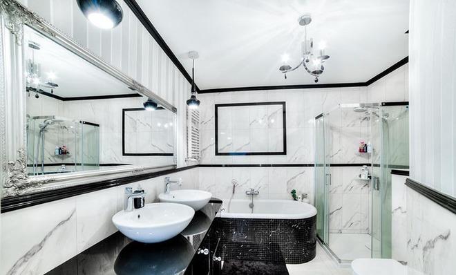 Đèn chùm – món đồ hữu dụng biến phòng tắm gia đình trông vừa đẹp vừa sang trong phút chốc - Ảnh 9.