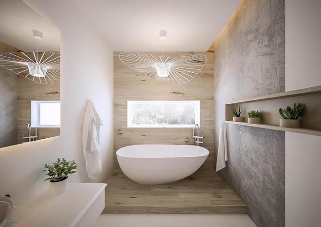 Đèn chùm – món đồ hữu dụng biến phòng tắm gia đình trông vừa đẹp vừa sang trong phút chốc - Ảnh 12.