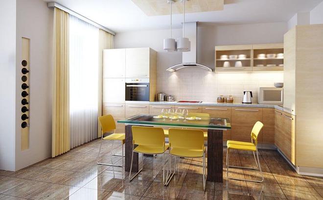 Sơn trắng toàn bộ không gian kết hợp nội thất gỗ - màu công thức cho một căn bếp nhỏ tinh tế và hiện đại - Ảnh 2.