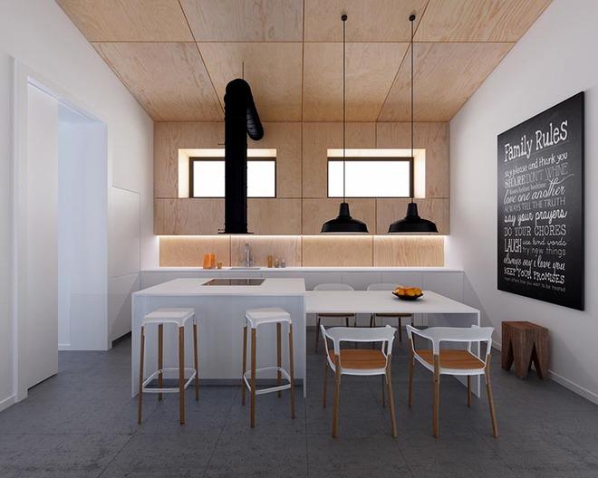 Sơn trắng toàn bộ không gian kết hợp nội thất gỗ - màu công thức cho một căn bếp nhỏ tinh tế và hiện đại - Ảnh 5.