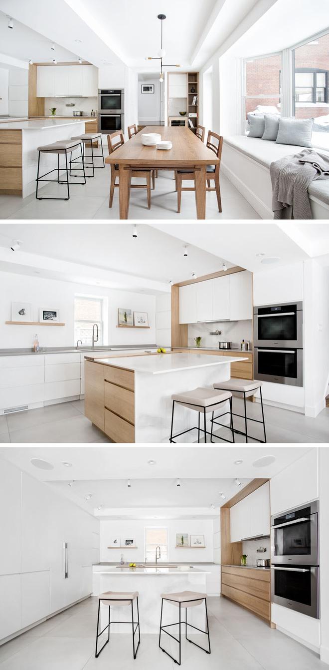 Sơn trắng toàn bộ không gian kết hợp nội thất gỗ - màu công thức cho một căn bếp nhỏ tinh tế và hiện đại - Ảnh 7.