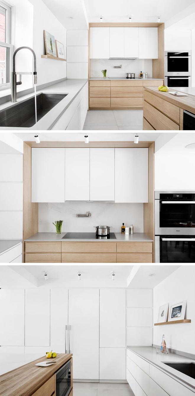 Sơn trắng toàn bộ không gian kết hợp nội thất gỗ - màu công thức cho một căn bếp nhỏ tinh tế và hiện đại - Ảnh 8.