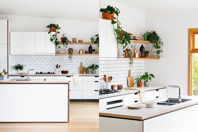 Sơn trắng toàn bộ không gian kết hợp nội thất gỗ - màu công thức cho một căn bếp nhỏ tinh tế và hiện đại - Ảnh 10.
