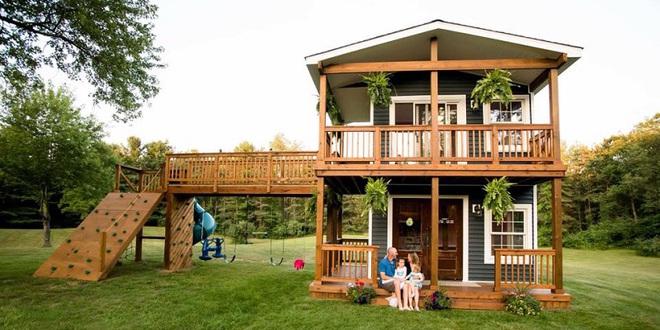 Ngôi nhà mà ông bố tự tay hoàn thành cho 2 cô con gái và câu chuyện khiến ai cũng cảm động - Ảnh 1.