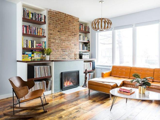 Ngôi nhà 2 tầng tuyệt đẹp dành cho những người yêu sách và âm nhạc - Ảnh 2.