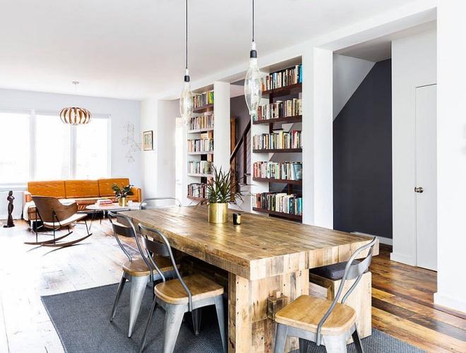 Ngôi nhà 2 tầng tuyệt đẹp dành cho những người yêu sách và âm nhạc - Ảnh 5.