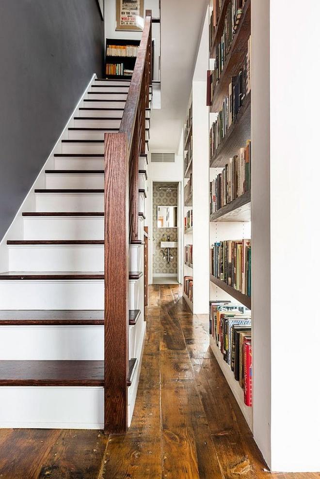 Ngôi nhà 2 tầng tuyệt đẹp dành cho những người yêu sách và âm nhạc - Ảnh 10.