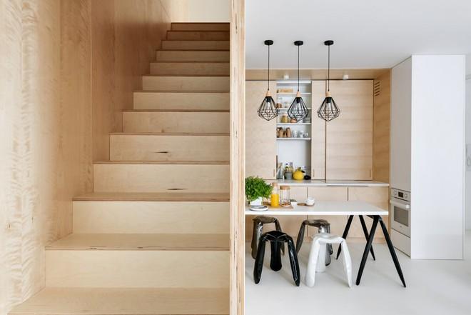 Thuốc bổ cho ngôi nhà nhỏ chính là nội thất gỗ đa chức năng - Ảnh 3.
