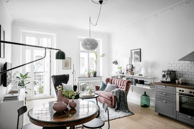 Lại thêm 1 căn hộ thành công xuất sắc khi áp dụng phong cách Scandinavian vào trang trí nhà - Ảnh 1.