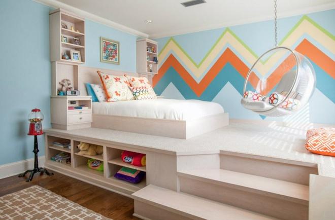 Thiết kế giường giật cấp giúp phòng ngủ nhỏ vừa rộng hơn lại vừa đẹp miễn chê - Ảnh 1.