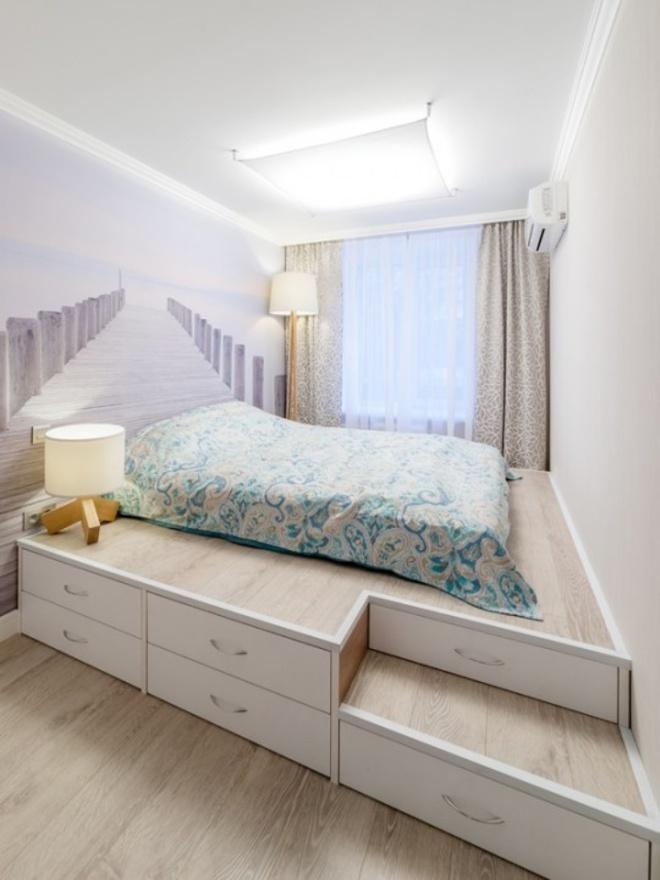 Thiết kế giường giật cấp giúp phòng ngủ nhỏ vừa rộng hơn lại vừa đẹp miễn chê - Ảnh 4.