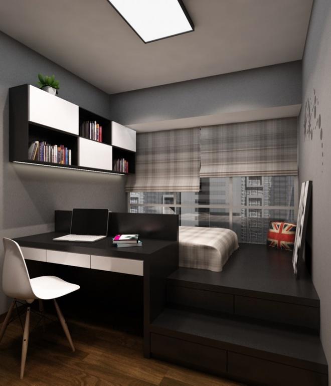 Thiết kế giường giật cấp giúp phòng ngủ nhỏ vừa rộng hơn lại vừa đẹp miễn chê - Ảnh 7.
