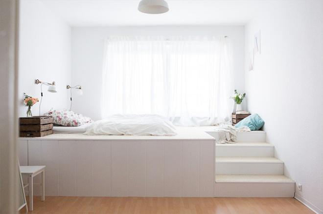 Thiết kế giường giật cấp giúp phòng ngủ nhỏ vừa rộng hơn lại vừa đẹp miễn chê - Ảnh 9.