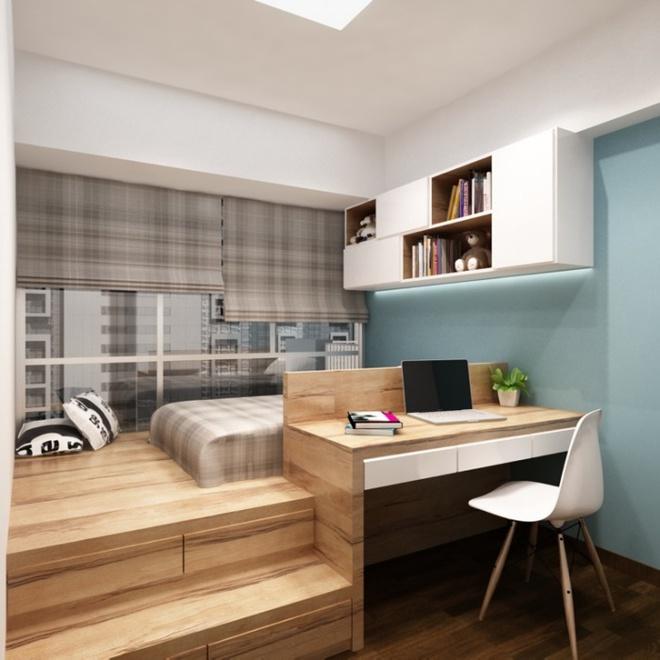 Thiết kế giường giật cấp giúp phòng ngủ nhỏ vừa rộng hơn lại vừa đẹp miễn chê - Ảnh 10.